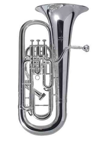 Willson 2900 TA in B Euphonium Messing versilbert, mit Koffer
