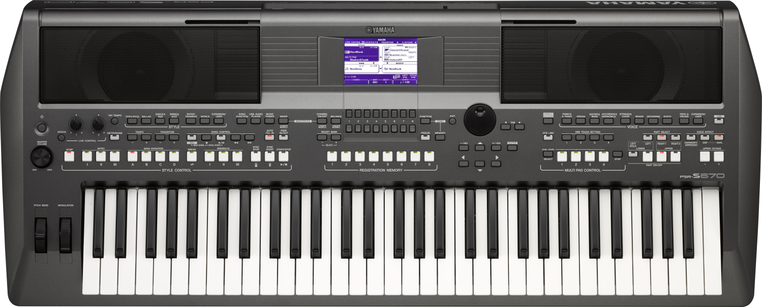 Yamaha PSR S 670 Black Bundle Set Keyboard 286449SET
