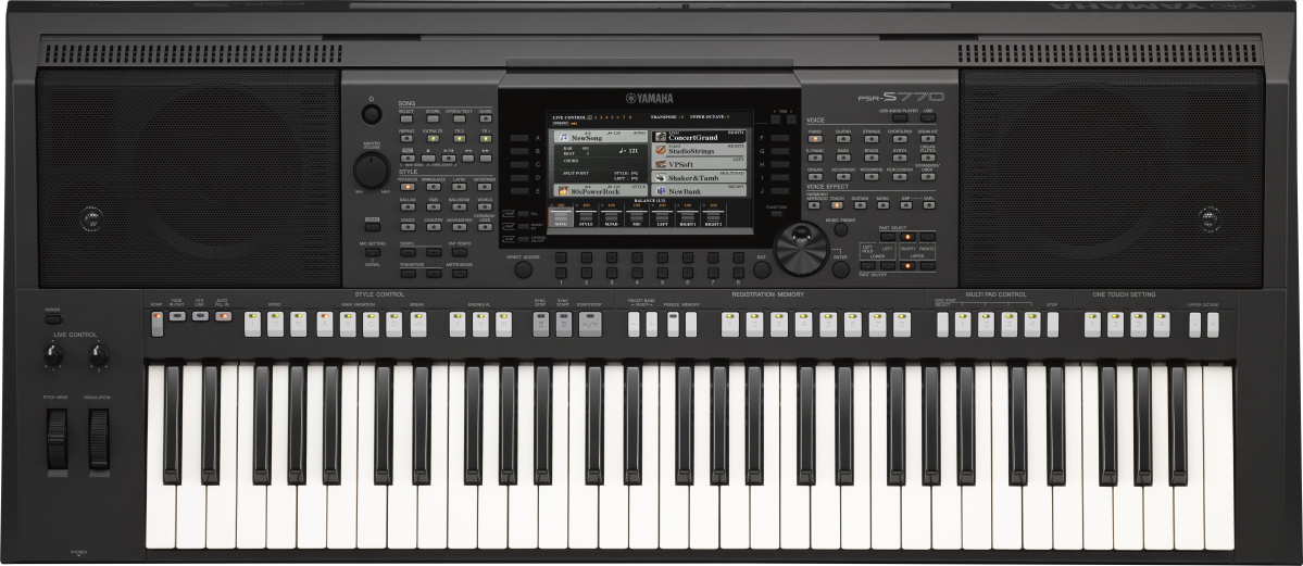 Yamaha PSR S 770 Black Bundle Set Keyboard 286901SET