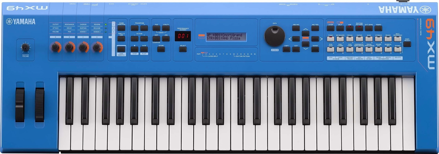 Yamaha MX-49 V2 BU aus Showroom 49 Tasten Synthy in blau 292341