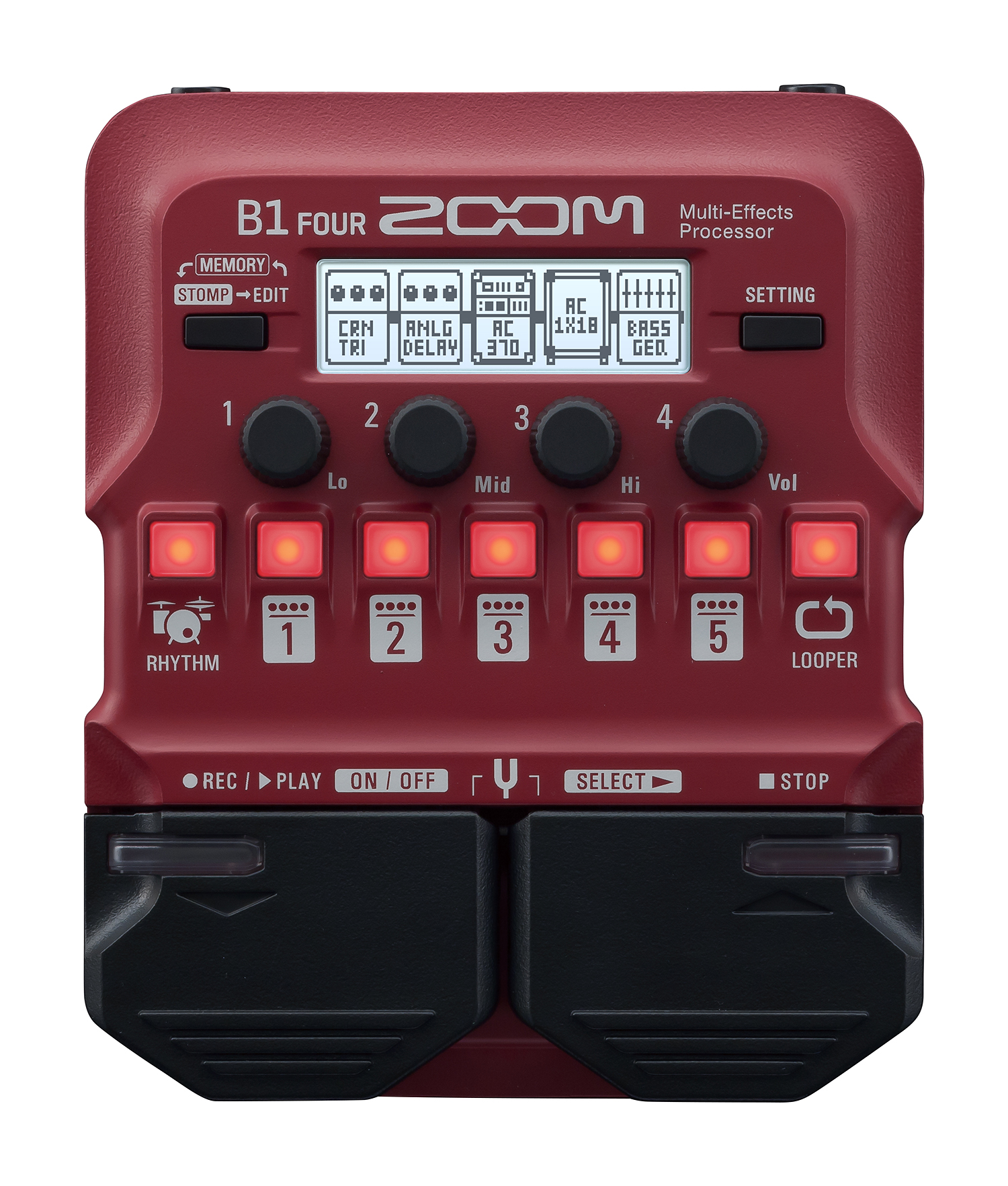 Zoom B1 Four Bass Multieffekt Prozessor 211736