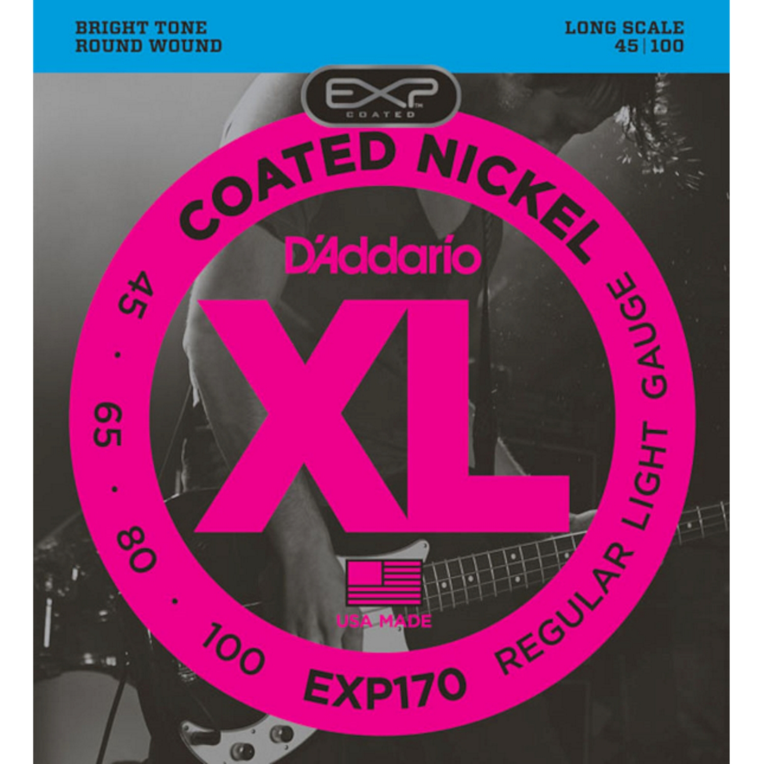 DAddario EXP-170 Coated, E-Bass 045-100 212120