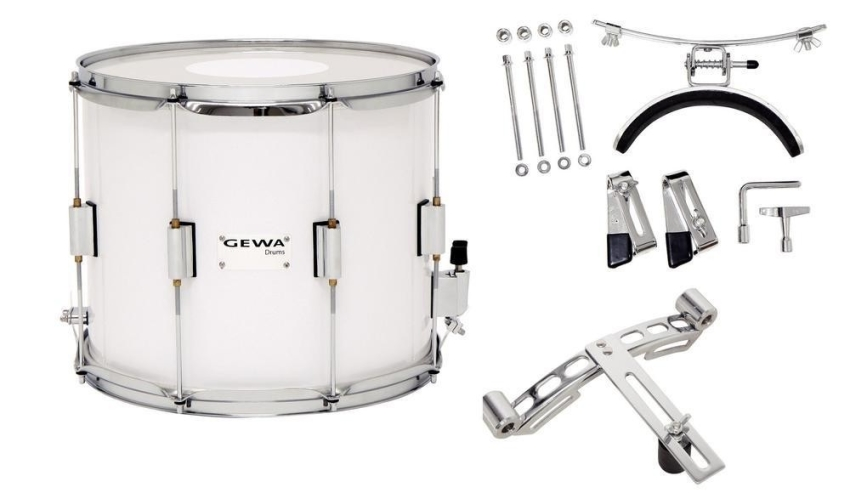 Gewa Marching Snare Parade 14x10 Holzkessel weiß 270127