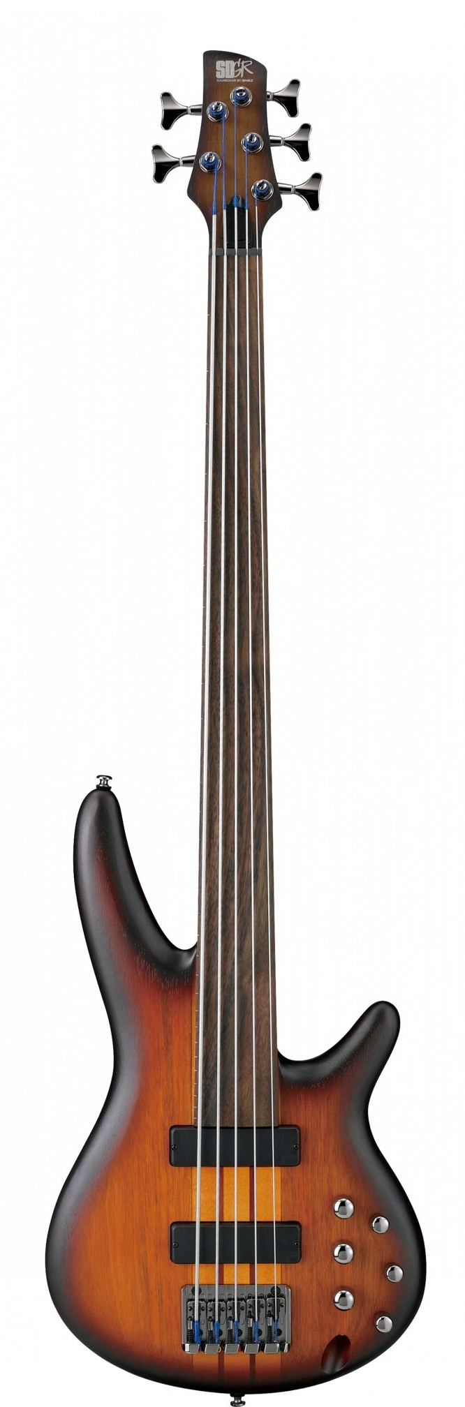 Ibanez SRF705 BBF Fretless Brown Burst Flat 205672