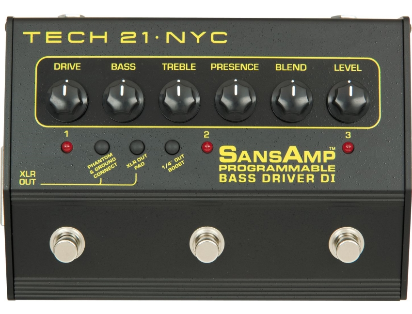 Tech 21 Bass Driver DI Programmable SansAmp 280471