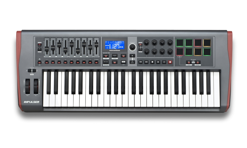 Novation Impulse 49 MIDI-Keyboard mit 49 Tasten 282235