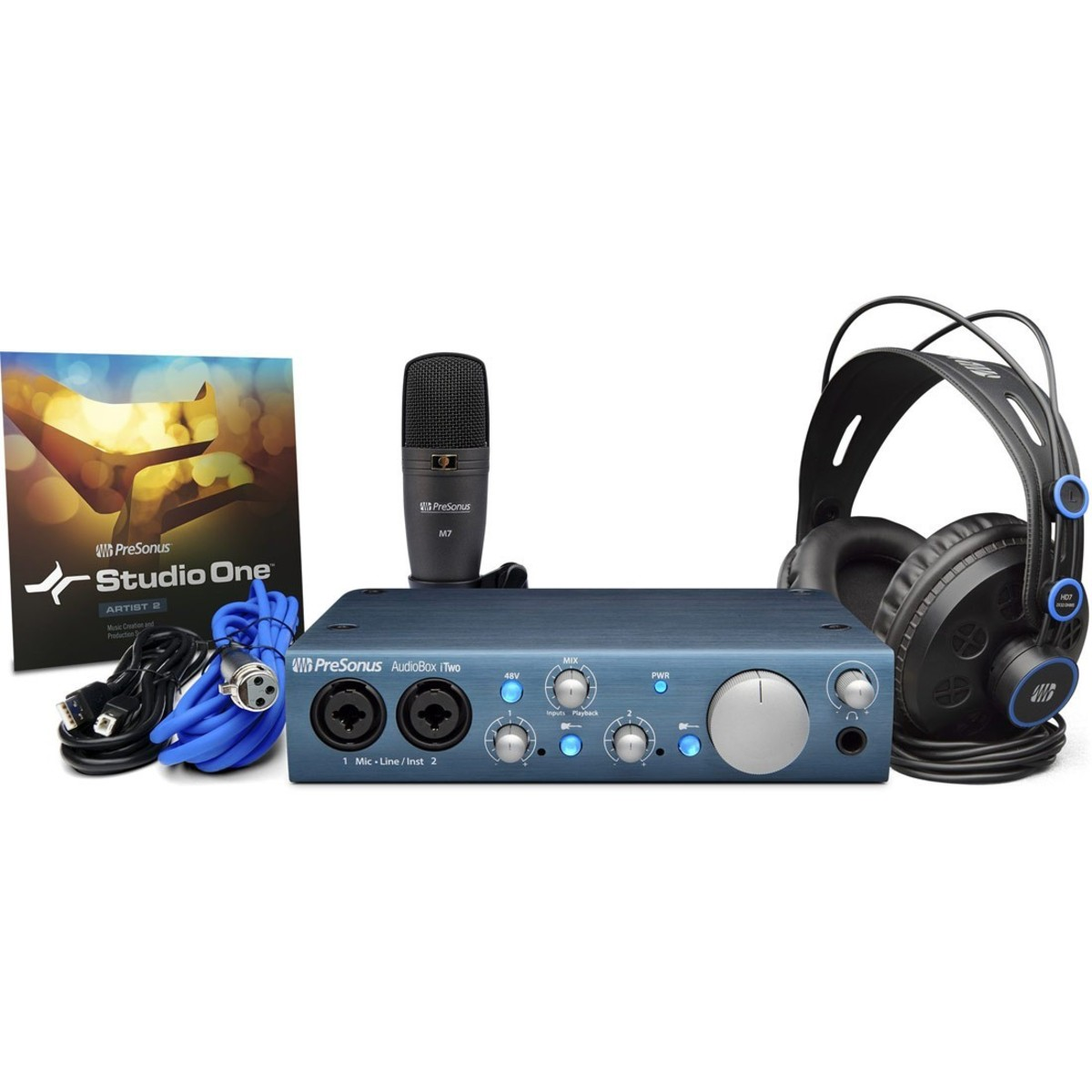 Presonus AudioBox iTwo STUDIO Aufnahmestudio-Set 288524