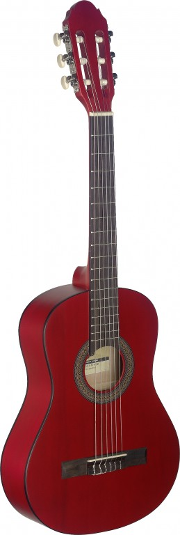 Stagg C-410 M RED 1/2 Klassik-Gitarre - Red 290284
